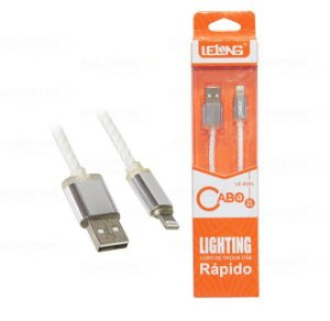 CABO DE DADOS INOVA IPHONE/USB 5/6/7 LELONG LE-830L