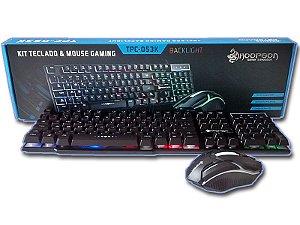 Kit Teclado e Mouse Gamer  Backligth Hoopson TPC-053K