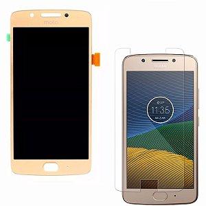 Frontal Motorola Moto G5 Dourado