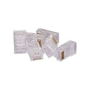 Conector RJ45 cristal Cat5e suporta Ethernet 30μm 1000 un