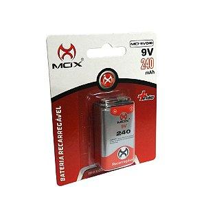 Bateria 9V 240 mah Mox