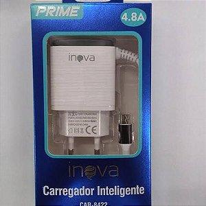 Carregador Turbo Inova 4.8A - 2 Usb CAR-8422