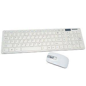 Kit Teclado Mouse Sem Fio Wireless 2.4ghz Multimídia Slim