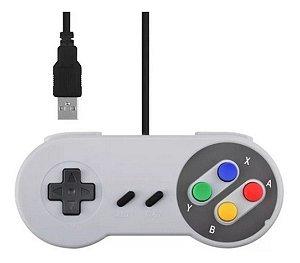 Controle Super Nintendo Entrada Usb Jogos Emulador Pc