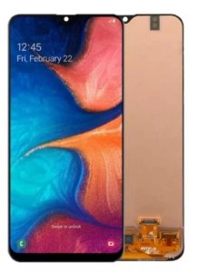 Frontal Samsung A20 Preto
