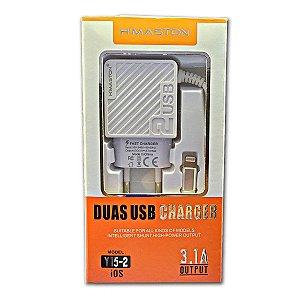Carregador Iphone 3.1A + 2 usb  H-maston