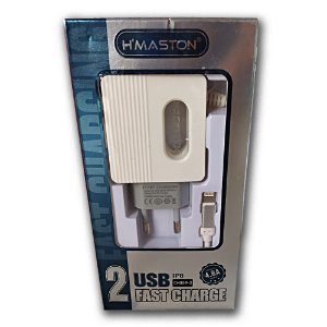 Carregador Iphone H`Maston 2 Portas Usb Fast 4.8A CH809-2
