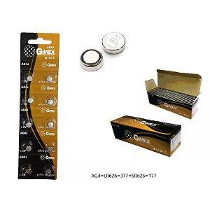 Bateria AG04 Cartela com 10 Pçs