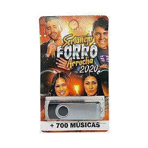 Pendrive musical 700-1000 musicas sertanejo forró arrocha 2020