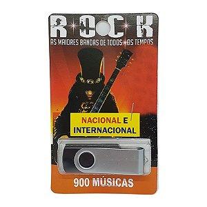 Pendrive musical 700-1000 musicas rock nacional e internacional