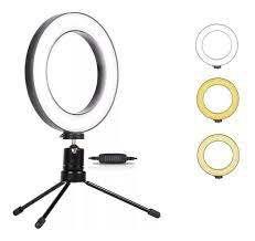 Iluminador Ring Light 6 Polegadas 16cm Usb Led Apoio Mesa