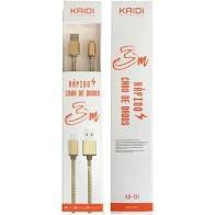 cabo de dados Iphone kaidi 3 metros KD-311