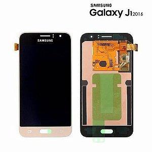 Frontal Samsung J120 J1 2016 Dourado Incell