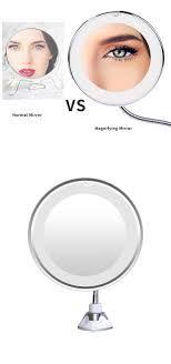 Espelho Led Flexível Aumento 10x Fixação Ventosa