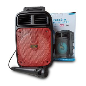 Caixa de Som Bluetooth Com Microfone AM-838 - Altomex