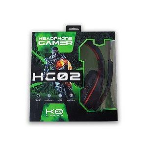 Headset Gamer p2 3 vias HG02  KO GAMER