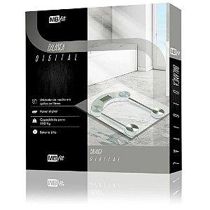 Balança Residencial 0/180 kg digital base de vidro