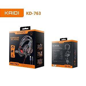 Fone de Ouvido Gamer Headset P2 Kaidi KD-763 Over Ear
