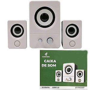 Caixa De Som Golden ultra 2.1 10w sub woofer  GT-PCEX7