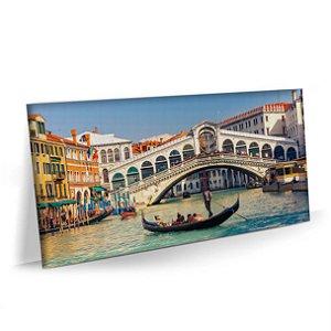 Quadro Veneza Lago Barco Italia Tela Decorativa