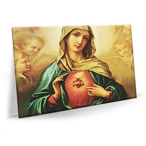 Quadro Sagrado Coração de Maria Tela Decorativa