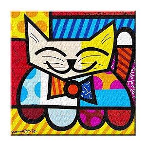 Quadro Gato Romero Britto Tela Decorativa