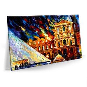 Quadro Abstrato Pintura Louvre Sala Tela Decorativa
