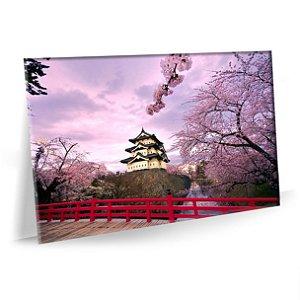 Quadro Sala Templo Hirosaki Tela Decorativa