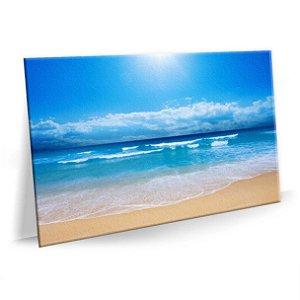 Quadro Praia Sol Mar Sala Tela em Tecido