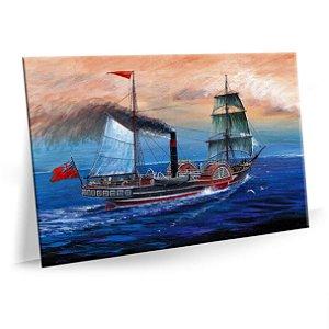 Quadro Barco Embarcação Escuna Tela Decorativa