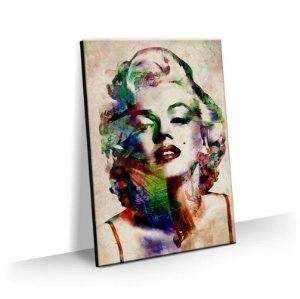 Quadro Marilyn Monroe Aquarela Tela Decorativa