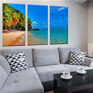 Conjunto de Telas Decorativas Praia Paraiso 3 peças