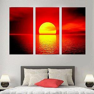 Conjunto 3 Quadros Por do Sol