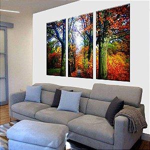Conjunto de Telas Decorativas Bosque 3 peças