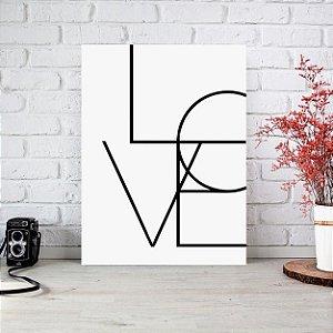 Placa Decorativa Frase Love (AL) 30X40CM