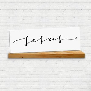 Placa Decorativa Jesus (AL) 30x9cm