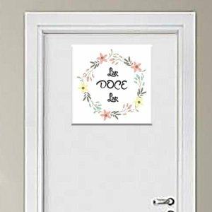 Placa Decorativa Lar Doce Lar 2 (AL) 30x30cm