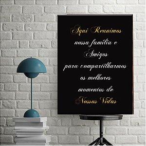 Placa Decorativa Aqui Reunimos (AL) 30X40CM