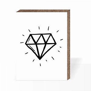 Quadro Diamante  [ Box em MDF ]