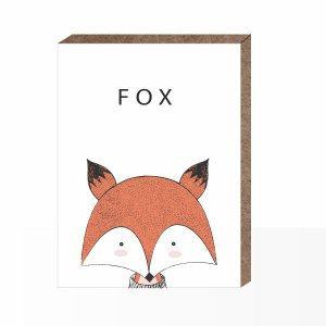 Quadro Infantil Fox [ Box em MDF ]