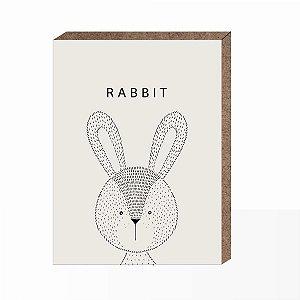 Quadro Infantil Rabbit  [ Box em MDF ]