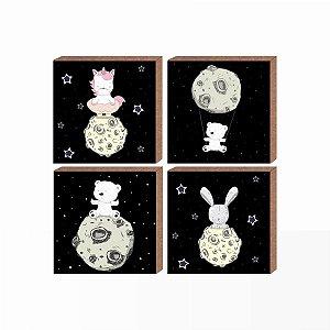 Conjunto Quadros Infantil Planetas  [ Box em MDF ]