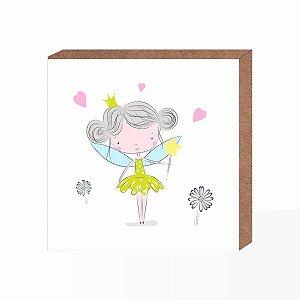 Quadro Infantil Princesa Fadinha  [ Box em MDF ]