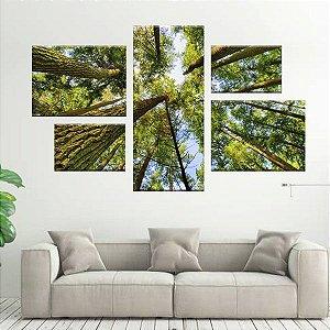 Conjunto de Quadro Floresta Assimétrico