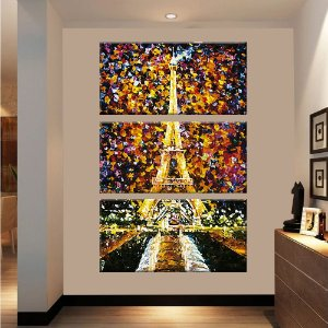 Quadro Torre Eiffel Pintura Vertical