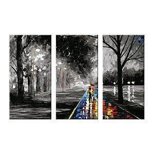 Quadro Caminho Art Decor  3 Telas Decorativas
