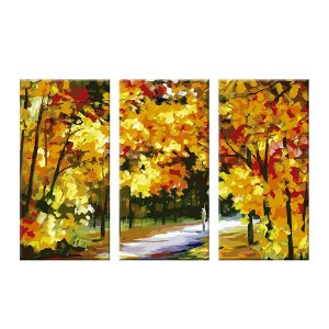 Quadro Bosque Floresta 3 Telas Decorativas