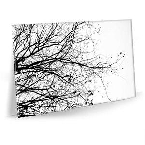 Quadro Galhos preto e branco Tela Decorativa