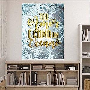 Placa Decorativa Como Oceano (AL) 30X40CM
