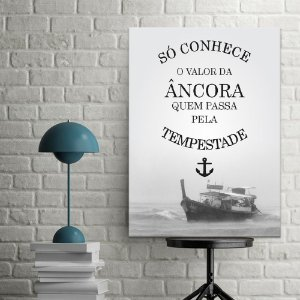 Placa Decorativa Tempestade (AL) 30X40CM